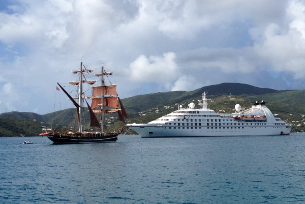2557 Old meets New in Gorda Sound